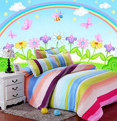 Тематический интерьер - Радуга в детской комнате