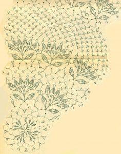 Ажурная скатерть и салфетки связанные крючком