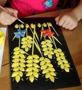 Изделия ручной работы из тыквенных семечек