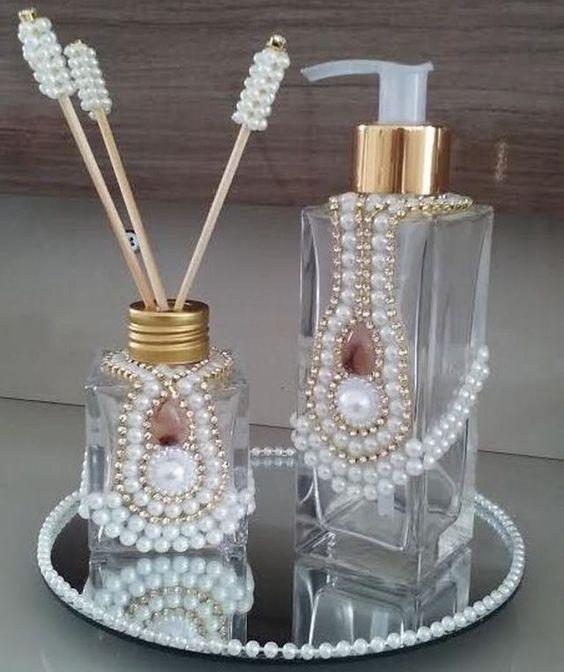 Наборы для ванной комнаты с жемчугом
