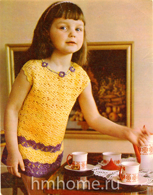 Платье из ириса для девочки