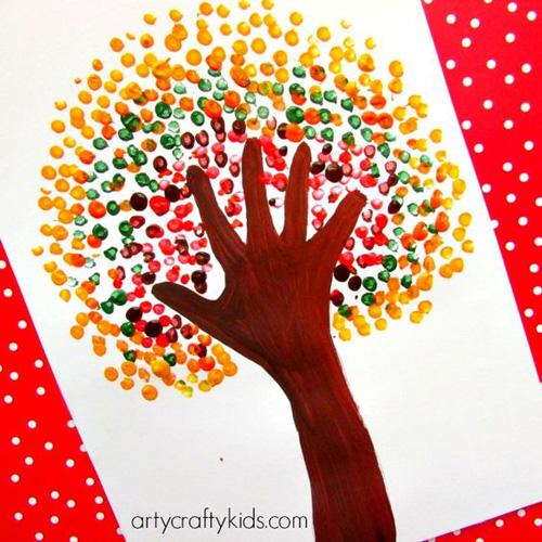 Занятия с детьми: отпечатки рукой