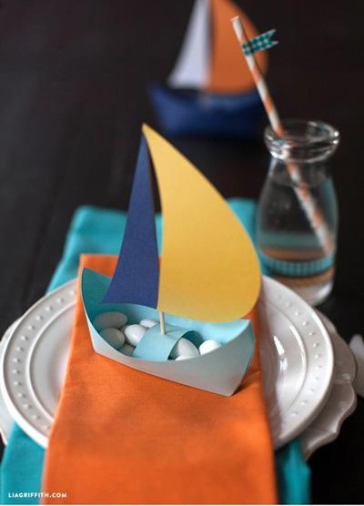 Бумажные кораблики для детского праздника
