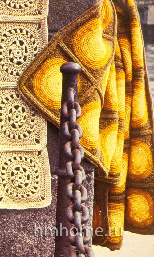 Вязаные ажурные коврики