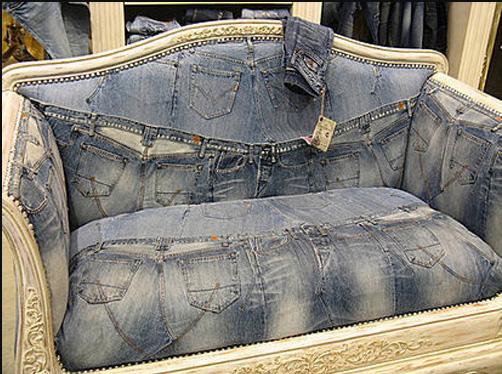 Идея для дома: джинсовые диваны