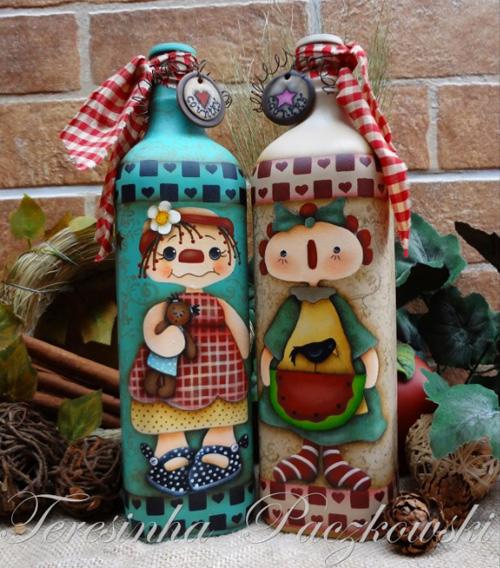 Декоративные хэндмейд бутылки