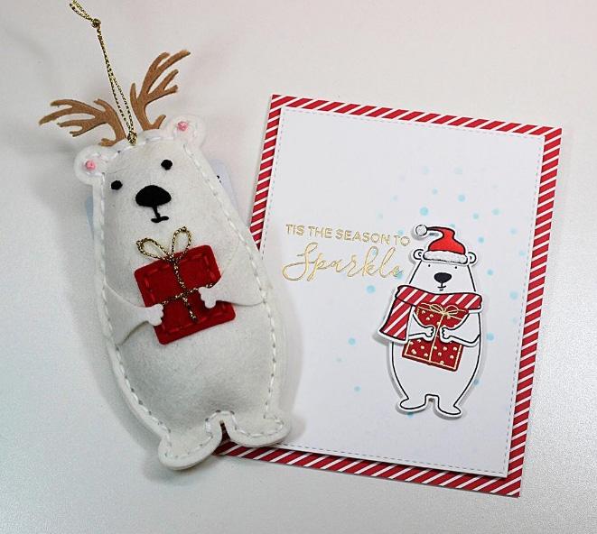 Новогодние шаблоны: белый медведь