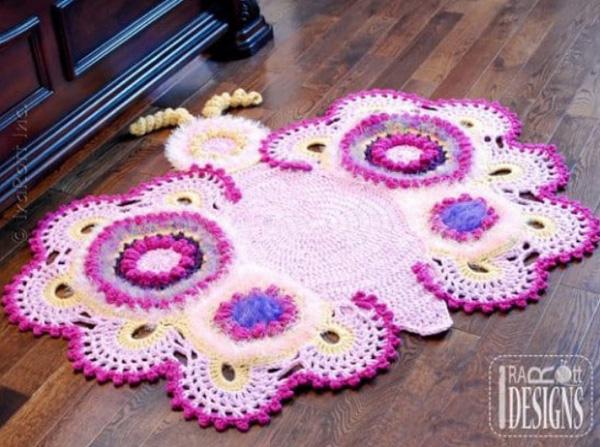 Вязаные крючком коврики для детской комнаты