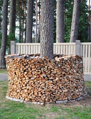 Идея для дачи: укладка дров