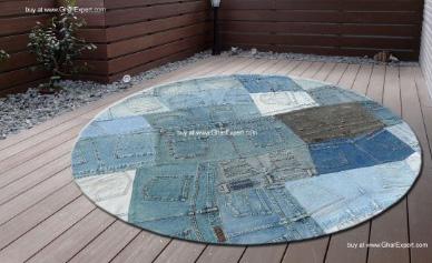 Ковры из джинсовой ткани