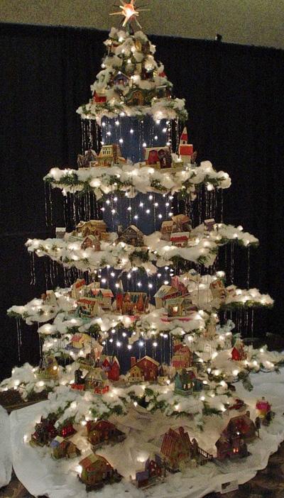 Новогодние ёлки с деревенским сюжетом