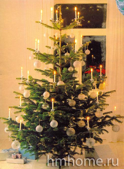 Вязаные шары для новогодней ёлки