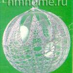 Обвязка стеклянных шаров крючком