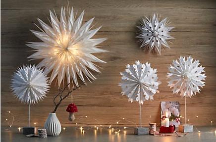 Объёмные снежинки с подсветкой
