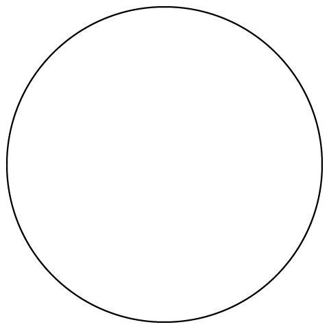 Шаблон для круглой подушки