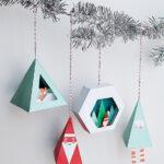 Бумажные рождественские 3D украшения