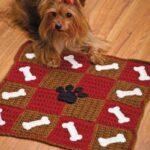 Вязаные коврики для собак