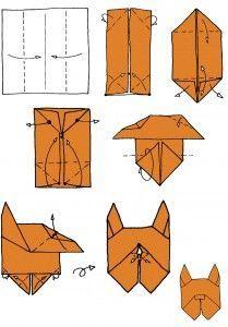 Собаки в технике оригами