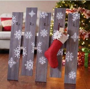 Идеи деревянного новогоднего декора