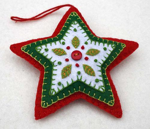 Фетровые игрушки для новогодней ёлки