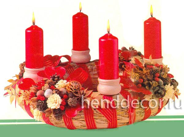 Настольные рождественские венки