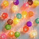 Праздничный декор нитяными шарами