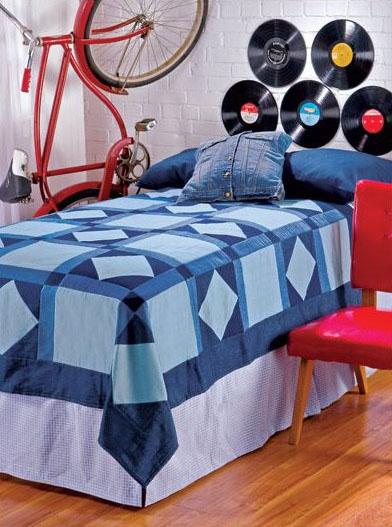 Красивые джинсовые покрывала