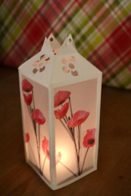 Бумажные подсвечники для праздничного стола
