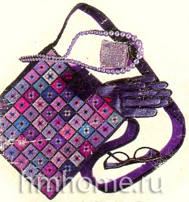 Текстильная сумка вышитая крестиком