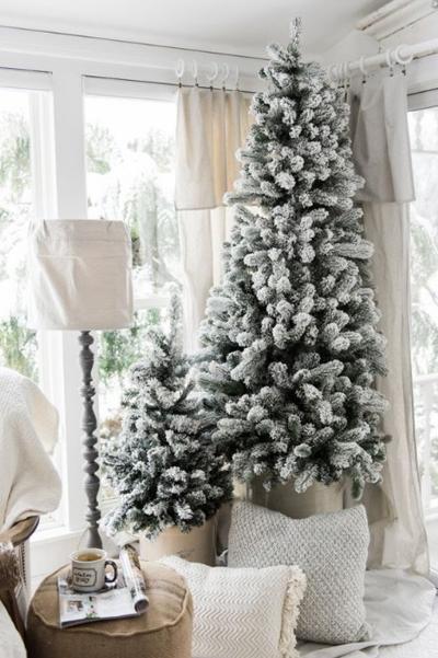 Новогодний декор с несколькими ёлками