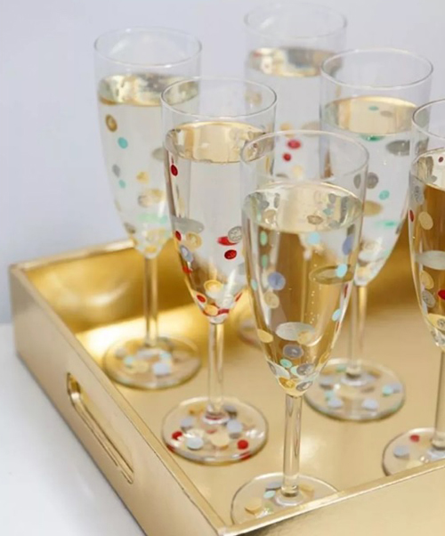 Бокалы для новогодней вечеринки