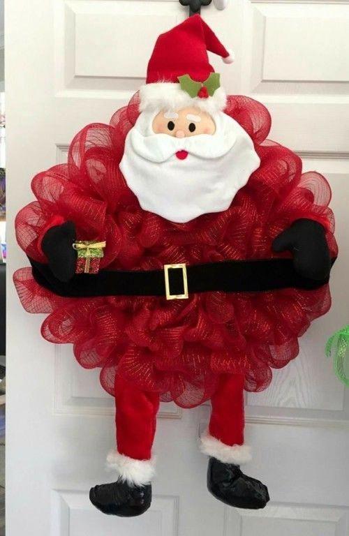 Рождественские символы из джутовой сетки
