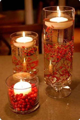 Как оформить свечи для рождественского стола