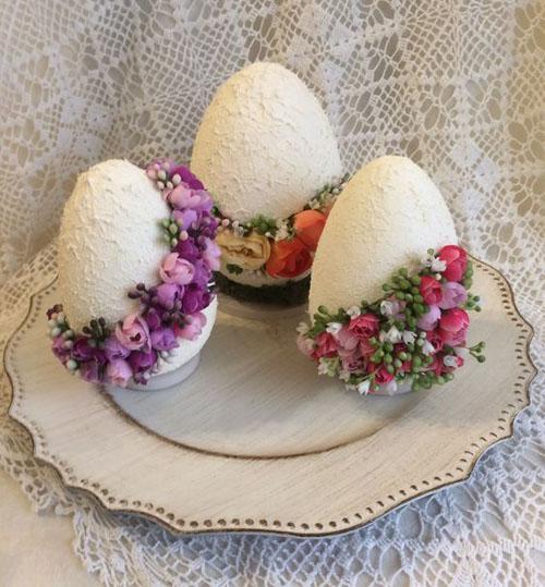 Сувенирные яйца с объёмным декором