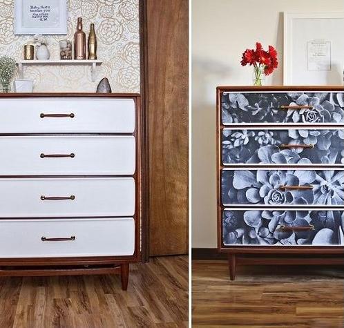 Ремонт старой мебели обоями