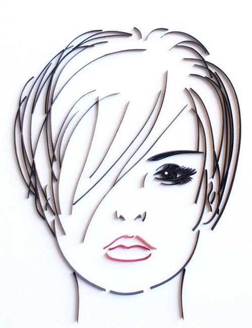 Женские портреты в технике квиллинг