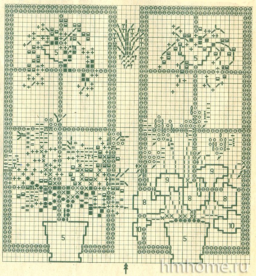 Вышивка для интерьера - окна с любимыми цветами