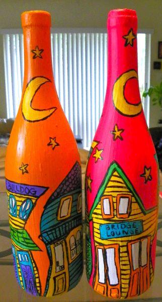 Декоративные хендмейд бутылки