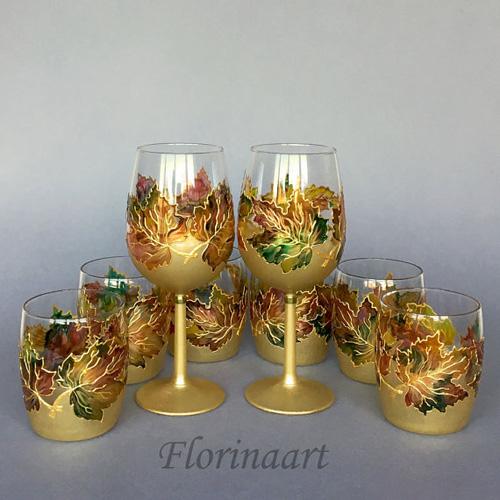 Праздничные бокалы расписанные вручную