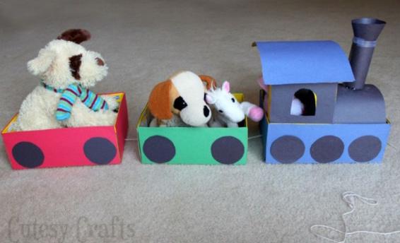 Детские игрушки из обувных коробок