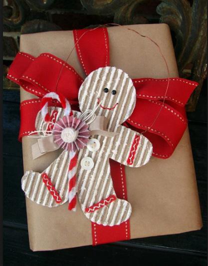 Гофрированный картон для новогоднего декора