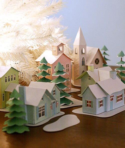 Красочные рождественские деревни