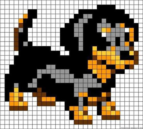 Схемы собак для вышивки, вязания, бисероплетения