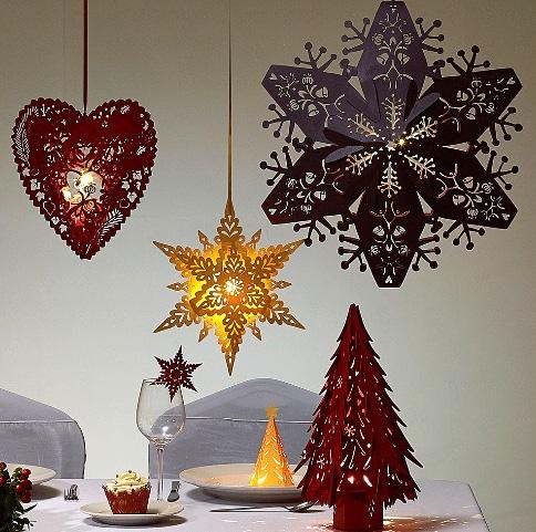 Рождественский бумажный декор