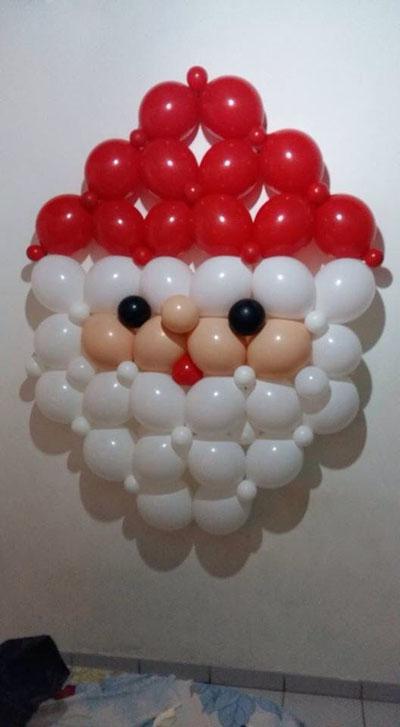 Воздушные шары в новогоднем декоре