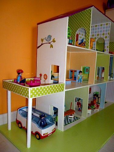 Comment faire une maison pour playmobil en carton ventana blog - Toute les maison playmobil ...
