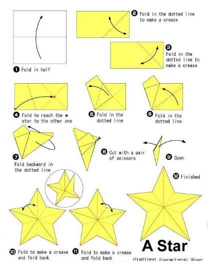 Как сделать звезду в технике оригами. Схемы