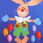 Картонный кролик для декора