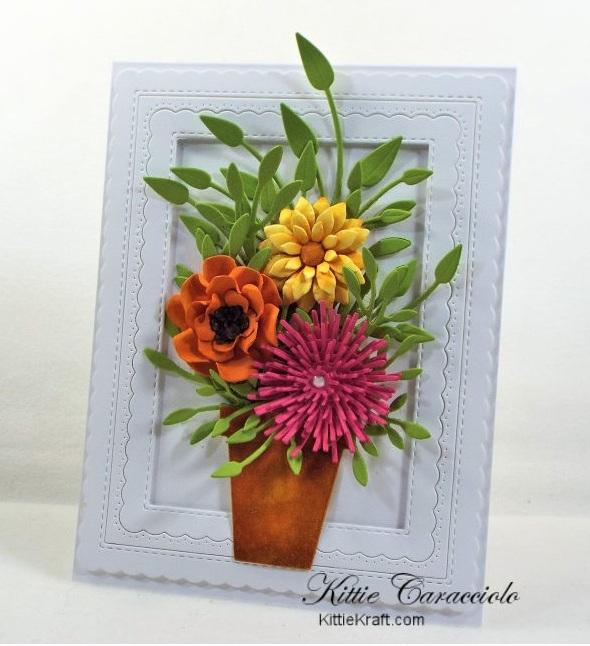 Открытки с летними цветочными вазонами