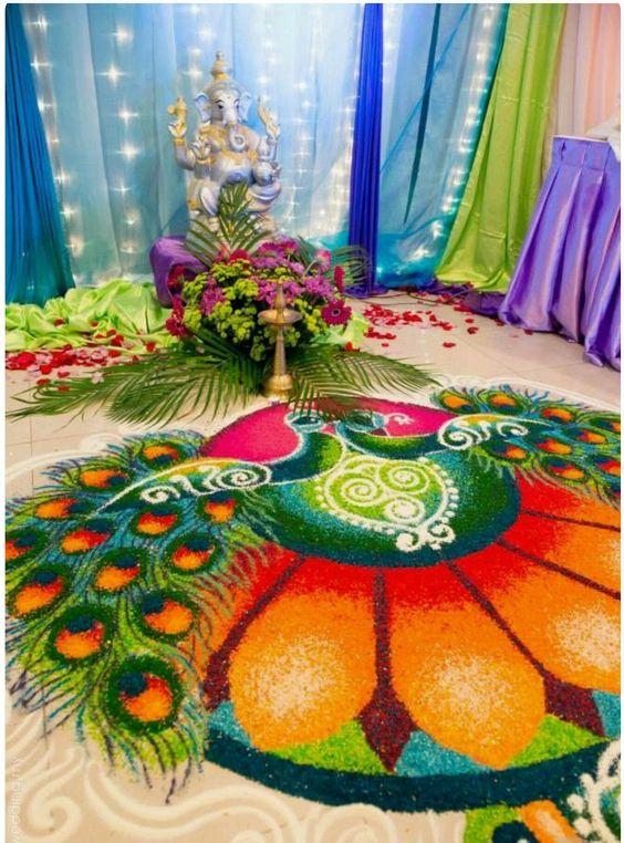 Ранголи - красивое украшение индуистских праздников